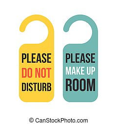Do not disturb sign