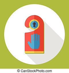 Do not disturb sign flat icon