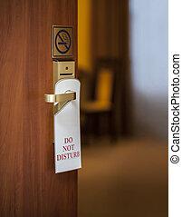 do not disturb sign hanging