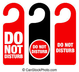 Do Not Disturb Sign - Red Hotel Door Warning Messages ...
