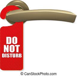 Door Handle - Do Not Disturb Sign With Copper Door Handle ...