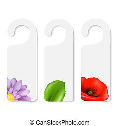 Do Not Disturb Sign With Flowers - 3 Do Not Disturb Signs,...