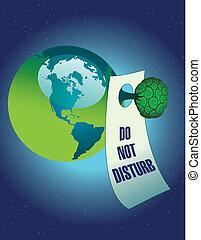 Do not disturb the environment - A vector Do not disturb the...