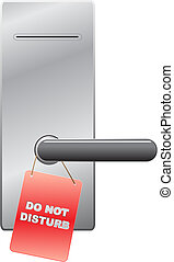 do not disturb ticket on hotel door