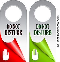 Do not disturb vector cards