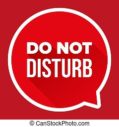 Do Not Disturb vector