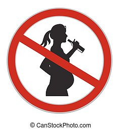 do not drink alcohol while pregnant sign, vector...