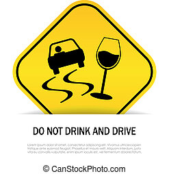 Do not drink and drive sign