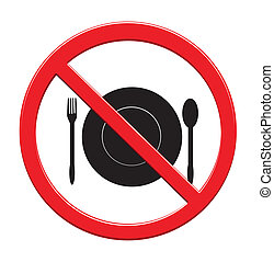 Do not Eat sign icon