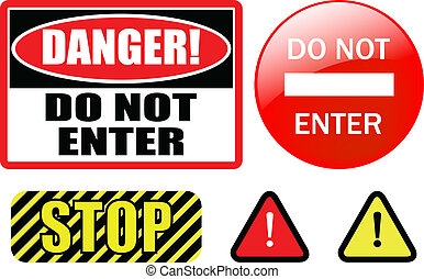 "do not enter - ""DO NOT ENTER\"" sign - vector"