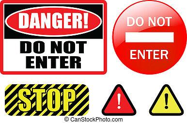 """do not enter - \""""DO NOT ENTER\"""" sign - vector"""