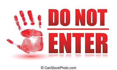 do not enter sign isolated over white
