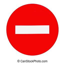 Do not enter sign on the whitet background