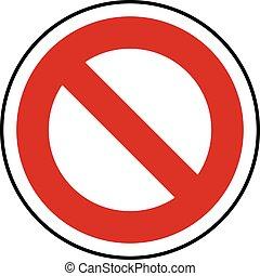 Do Not Enter Sign vector template