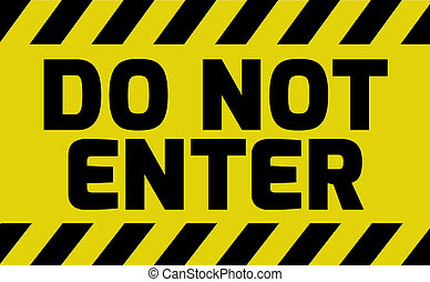 Do not enter sign yellow with stripes, road sign variation....