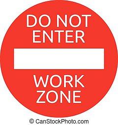 Do not enter warning