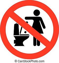 Do not flush feminine products sign