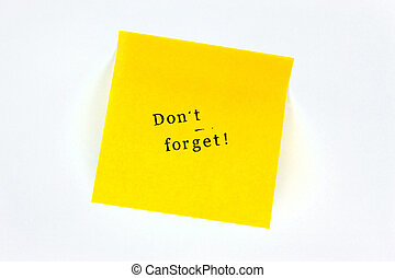 Do not forget Post it