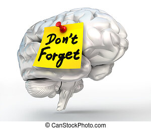 do not forget reminder note on brain - do not forget...