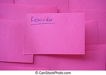 do not forget reminder, note paper