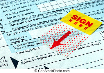 Do not forget to sign the tax form