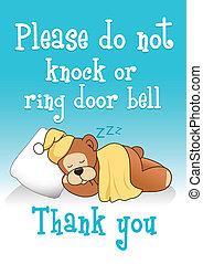 Do not knock sleeping bear 1