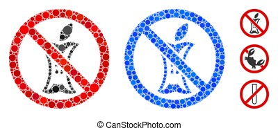 Do Not Litter Composition Icon of Circles