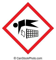 Do not litter flat icon in red rhombus isolated on white ...