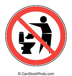 Do not litter in toilet icon 1
