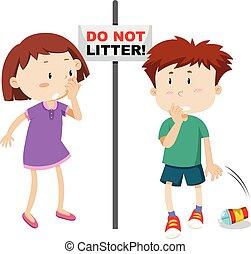 Do not litter scene