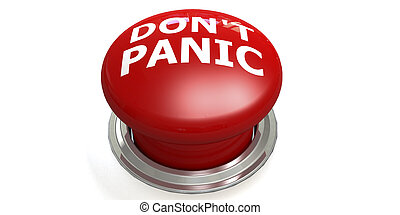 Do not panic button isolated