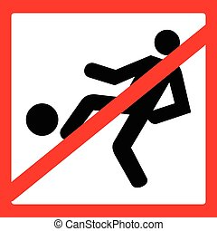 Do not play football sign