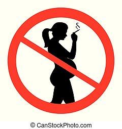 No smoking for pregnant woman