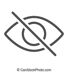Do not spy line icon, web and mobile, not visible sign vector graphics, a linear pattern on a white background, eps 10.