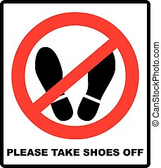 Do not step here please sign vector illustration
