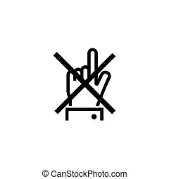 Do Not Touch Finger Flat Vector Icon