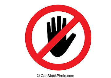 Do not touch icon. Vector illustration EPS10