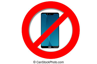 Do not use mobile phone sign