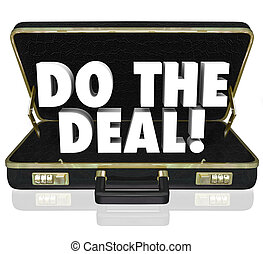 Do the Deal Briefcase Words Close Sale