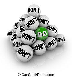 Do Vs Don't Ball Pyramid Permission Approval Attitude -...