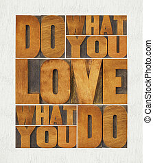 do what you love word abstract