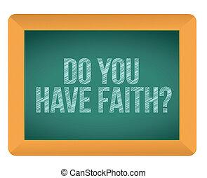 do you have faith chalkboard
