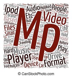 Do You Own An Mp3 Mp4 Player text background wordcloud concept