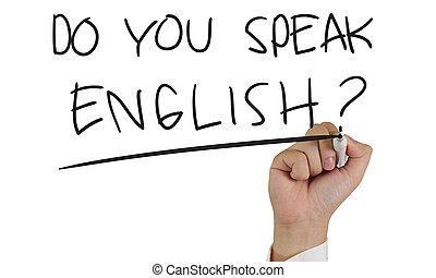 Do You Speak English, Concept Typography - Motivational...