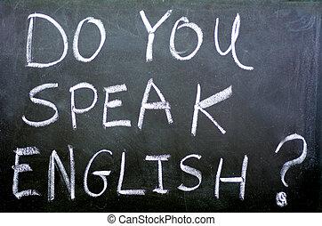 Do you speak english ? - Do you speak english? Handwritten ...