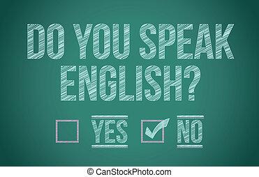 Do you speak english illustration design graphic