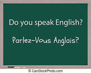 Do You Speak English in French - The words Do You Speak ...