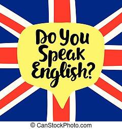 Do you speak English. Language school banner. Modern ...