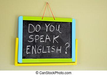 Do you speak english ? - Do you speak english? Handwritten...