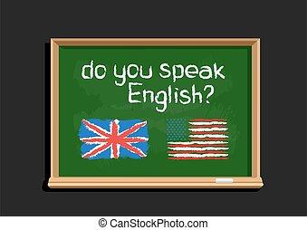 do you speak English text on blackboard - Do you speak text ...